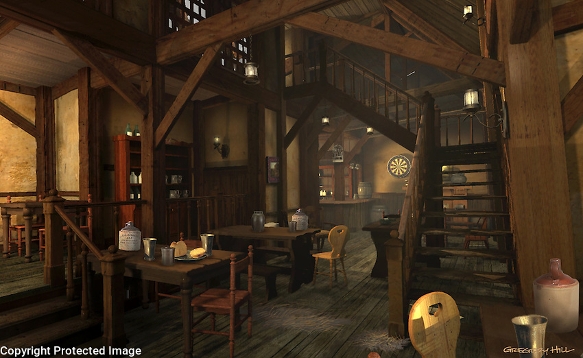 A personal project… a ram-shackle inn with many mysterious nooks and crannies.