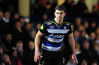 Ollie Devoto of Bath Rugby looks on. Aviva Premiership match, between Bath Rugby and Newcastle Falcons on March 18, 2016 at the Recreation Ground in Bath, England. Photo by: Patrick Khachfe / Onside Images