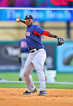 8 March 2012: Boston Red Sox second baseman Oscar Tejeda warms up prior to a Spring Training game against the St. Louis Cardinals at Roger Dean Stadium in Jupiter, Florida. The Cardinals defeated the Red Sox 9-3 in Grapefruit League action. Mandatory Credit: Ed Wolfstein Photo