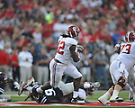 Alabama running back Eddie Lacy (42) runs at Vaught-Hemingway Stadium in Oxford, Miss. on Saturday, October 14, 2011. Alabama won 52-7.