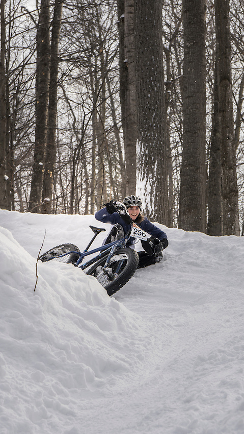 The 906 Polar Roll winter bike race in Marquette, Michigan.