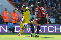 Burnley's Andre Gray in action during todays match  <br /> <br /> Photographer Ian Cook/CameraSport<br /> <br /> The Premier League - Bournemouth v Burnley - Saturday 13th May 2017 - Vitality Stadium - Bournemouth<br /> <br /> World Copyright &copy; 2017 CameraSport. All rights reserved. 43 Linden Ave. Countesthorpe. Leicester. England. LE8 5PG - Tel: +44 (0) 116 277 4147 - admin@camerasport.com - www.camerasport.com