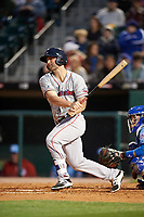 Pawtucket Red Sox first baseman Sam Travis (15) at bat during a game against the Buffalo Bisons on May 19, 2017 at Coca-Cola Field in Buffalo, New York.  Buffalo defeated Pawtucket 7-5 in thirteen innings.  (Mike Janes/Four Seam Images)