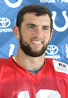 Andrew Luck at the Indianapolis Colts Press Conference at The Grove Hotel, Chandlers Cross, Watford, Herts. Indianapolis are here to play in the latest NFL International Series game at Wembley Stadium vs Jacksonville Jaguars on Sunday October 2nd 2016 - Pictured on September 30th 2016<br /> CAP/JIL<br /> &copy; Jill Mayhew/Capital Pictures /MediaPunch ***NORTH AND SOUTH AMERICAS ONLY***