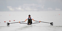Ottensheim, AUSTRIA.  NZL. LM1X, Duncan GRANT Morning semi final, as he moves away from the start pontoon, at the 2008 FISA Senior and Junior Rowing Championships,  Linz/Ottensheim. Friday,  25/07/2008.  [Mandatory Credit: Peter SPURRIER, Intersport Images] Rowing Course: Linz/ Ottensheim, Austria