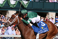 LEXINGTON, KY - April 09, 2017, #3 Sweet Loretta and jockey Javier Castellano win the 32nd running of the Adena Springs Beaumont Grade 3 $150,000 for owner St. Elias Stable and trainer Todd Pletcher at Keeneland Race Course.  Lexington, Kentucky. (Photo by Candice Chavez/Eclipse Sportswire/Getty Images)