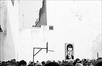 ROMANIA, Tudor Arghezi Street, Bucharest, 10.1983.Peace rally in front of the American Embassy - Str. Tudor Arghezi, Bucharest, October 1983..© Andrei Pandele / EST&OST