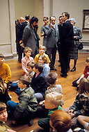 Washington, D.C. - February 15, 1972. André Malraux visits the National Gallery of Art during his trip to the United States. He (November 3, 1901 - November 23, 1976) was a French art theorist, novelist, he wrote the 1933 Prix Goncourt winning novel La Condition Humaine, and was the Minister for Cultural Affairs during Charles de Gaulle's presidency from 1959 - 1969.