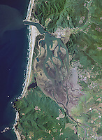 aerial photo map of Tillamook Bay, Oregon