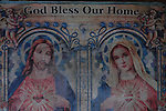 Religious sign in a house in Ilocos Norte, Philippines..**For more information contact Kevin German at kevin@kevingerman.com