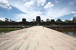 The causeway at Angkor Wat, Cambodia. June 7, 2013.