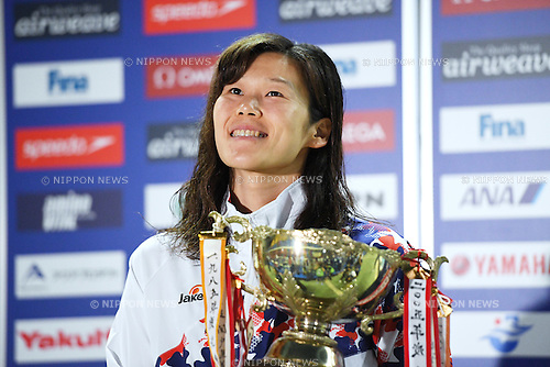 Rie Kaneto (JPN), <br /> OCTOBER 26, 2016 - Swimming : FINA Swimming World Cup Tokyo <br /> Award Ceremony <br /> at Tatsumi International Swimming Pool, Tokyo, Japan. <br /> (Photo by AFLO SPORT)