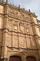 Main Facade, University of Salamanca, Castile and Leon, Spain