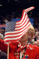 NEW YORK, NY - September 1, 2004: The floor of the 2004 Republican National Convention at Madison Square Garden in New York City.