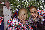 Monarchists celebrate their Queen's Diamond Jubilee weeks before the Olympics come to London. The UK enjoys a weekend and summer of patriotic fervour as their monarch celebrates 60 years on the throne. Across Britain, flags and Union Jack bunting adorn towns and villages.