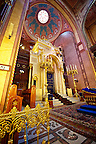 The interior of the Doh&aacute;ny Street  or Great Synagogue (nagy zsinag&oacute;ga).  The Second largest Synagogue in the world built in Moorish Revival Style. Budapest, Hungary