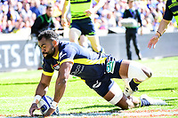Try for Peceli Yato of Clermont during the European Champions Cup semi final match between AS Clermont and Leinster on April 23, 2017 in Clermont-Ferrand, France. (Photo by Dave Winter/Icon Sport)