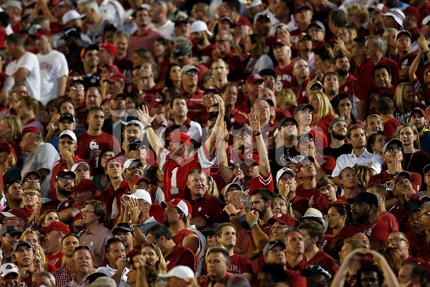 Ohio State Buckeyes fans against Oklahoma Sooners at Oklahoma Memorial Stadium on September 17, 2016 in Norman, Oklahoma.  (Kyle Robertson/ The Columbus Dispatch)