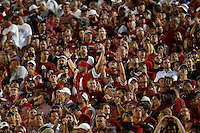 Ohio State Buckeyes fans against Oklahoma Sooners at Oklahoma Memorial Stadium on September 17, 2016 in Norman, Oklahoma.  (Kyle Robertson/ The Columbus Dispatch)