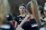 23 February 2017: Notre Dame's Kathleen Roe. The Elon University Phoenix hosted the University of Notre Dame Fighting Irish at Rudd Field in Elon, North Carolina in a 2017 Division I College Women's Lacrosse match. Notre Dame won the game 16-7.