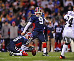 17 November 2008:  Buffalo Bills' place kicker Rian Lindell (9) misses a 47 yard field goal wide right with seconds remaining against the Cleveland Browns at Ralph Wilson Stadium in Orchard Park, NY. The Browns defeated the Bills 29-27 in the Monday Night AFC matchup. *** Editorial Sales Only ****..Mandatory Photo Credit: Ed Wolfstein Photo