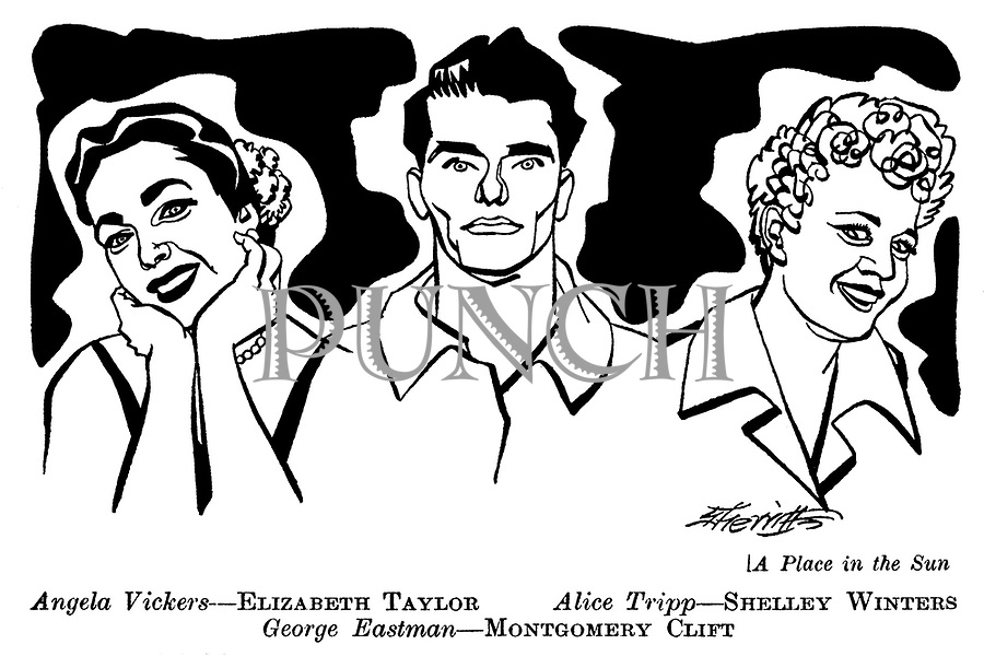 A Place in the Sun : Elizabeth Taylor , Shelley Winters and Montgomery Clift..
