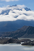 Tasman lake and glacier, Mount Cook national park, New Zealand