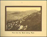 BNPS.co.uk (01202 558833)<br /> Pic: Tooveys/BNPS<br /> <br /> View from the Peak looking to the east.<br /> <br /> A fascinating set of early images of Hong Kong long before it became the metropolis it is today have surfaced. <br /> <br /> The black and white photographs dating to the early 20th century depict a region unrecognisable to what stands today. <br /> <br /> There are several shots of natives walking down packed low-rise streets while a number of others picture primitive sailing boats. <br /> <br /> The collection was compiled by adventurous British photographer Denis H. Hazell, who took each of the 26 postcard-like photos.