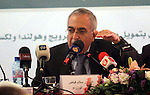 Palestinian Prime Minister Salam Fayyad speaks during a meeting about the Financial budget of year 2013, in the West Bank city of Ramallah. March 25, 2013. Photo by Issam Rimawi