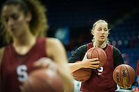 SPOKANE, WA - MARCH 29, 2013: Stanford Women's Basketball practice and press conferences at Spokane Arena.