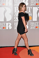 Caroline Flack<br /> The Brit Awards at the o2 Arena, Greenwich, London, England on February 22, 2017.<br /> CAP/PL<br /> &copy;Phil Loftus/Capital Pictures /MediaPunch ***NORTH AND SOUTH AMERICAS ONLY***