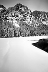 Lake Montriond after heavy snow