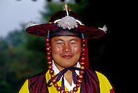 Man wearing local magistrate costume, Korean Folk Village, near Suwon, South Korea