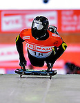 17 December 2010: Shinsuke Tayama sliding for Japan, finishes in 22nd place at the Viessmann FIBT Skeleton World Cup Championships in Lake Placid, New York, USA. Mandatory Credit: Ed Wolfstein Photo