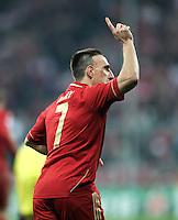 FUSSBALL   CHAMPIONS LEAGUE   SAISON 2011/2012     22.11.2011 FC Bayern Muenchen - FC Villarreal Jubel nach dem Tor zum 1:0 Franck Ribery (FC Bayern Muenchen)