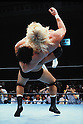 (T-B)  Johnny Ace, Jumbo Tsuruta, ..OCTOBER 7, 1990 - Pro Wrestling :..Jumbo Tsuruta throws Johnny Ace during the All Japan Pro-Wrestling event at Korakuen Hall in Tokyo, Japan. (Photo by Yukio Hiraku/AFLO)