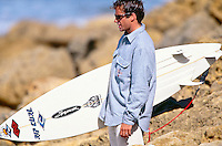 Tom Curren (USA) 3 times World Surfing Champion at the 1993 Rip Curl Pro at Bells Beach, Torquay, Victoria, Australia. Photo: joliphotos.com