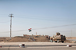 A checkpoint manned by the Iraqi Army on Friday, October 22, 2010 in Basrah, Iraq.