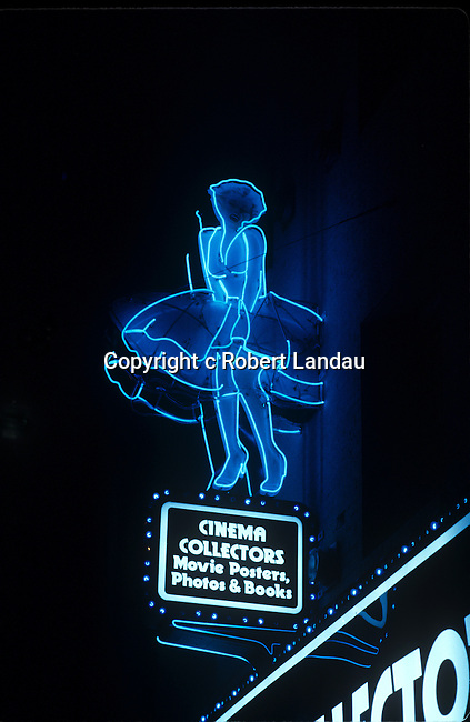 Cinema Collectors Neon Sign, Hollywood, 1976