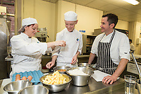 Claire Chocholko and Luke Yeatman with Mark Anderson of the Ruddington Arms