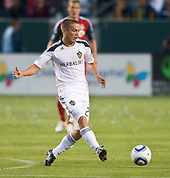 CARSON, CA – June 11, 2011: LA Galaxy midfielder Michael Stephens (26) during the match between LA Galaxy and Toronto FC at the Home Depot Center in Carson, California. Final score LA Galaxy 2, Toronto FC 2.