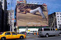 A Calvin Klein billboard in Soho in NYC on April 19, 2006.  Klein's advertisements use sex and provocative images to test society's cultural and moral boundries. (© Richard B. Levine)
