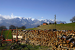 Farm close to Mt Pélerin and the mountains.Vevay close to Montreux, Luasanne, Switzerland.