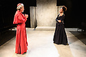 London, UK. 26.04.17 Troupe presents THE CARDINAL, by James Shirley, directed by Justin Audibert, at Southwark Playhouse. Picture shows: Stephen Boxer (Cardinal), Natalie Simpson (Duchess Rosaura).  Photograph © Jane Hobson.