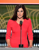 Kerry Woolard, General Manager, Trump Winery, makes remarks at the 2016 Republican National Convention held at the Quicken Loans Arena in Cleveland, Ohio on Tuesday, July 19, 2016.<br /> Credit: Ron Sachs / CNP<br /> (RESTRICTION: NO New York or New Jersey Newspapers or newspapers within a 75 mile radius of New York City)