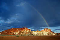 A very rare Rainbow over Rainbow Valley, Norther Territory Australia