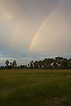 Farmland And Double Rainbow