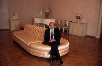 Moscow, Russia, 04/07/2000..Billionaire businessman and Kremlin insider Boris Berezovsky in his private club.