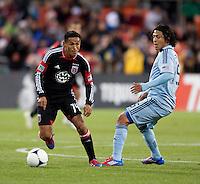 Andy Najar, Roger Espinoza.  Sporting KC defeated D.C. United, 1-0, at RFK Stadium in Washington, DC.
