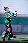 """16 October 2004: Nicole Barnhart before the game. The United States defeated Mexico 1-0 at Arrowhead Stadium in Kansas City, MO in an women's international friendly soccer game as part of the U.S.'s """"Fan Celebration Tour.""""."""